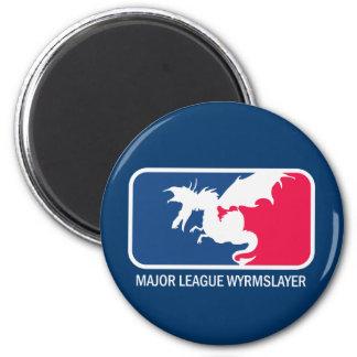 """Major League Wyrmslayer """"super geek"""" Magnet"""