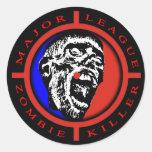 Major League Zombie Killer Stickers