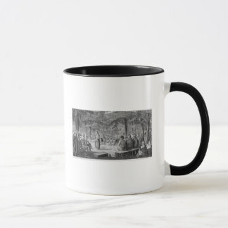 Major Long Holding a Council with the Oto Mug