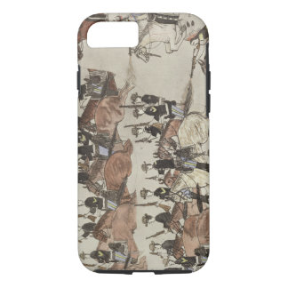 Major Marcus Reno's retreat before the Indian coun iPhone 8/7 Case