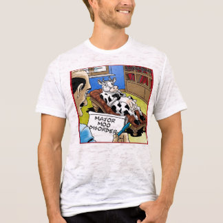 Major Moo Disorder Funny Cow Therapy Organic Tees