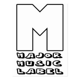 Major Music Label Postcard