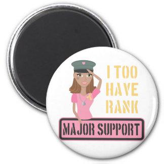 Major Support {dark skin} 2 Inch Round Magnet