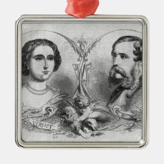 Major Yelverton and Teresa Longworth Metal Ornament