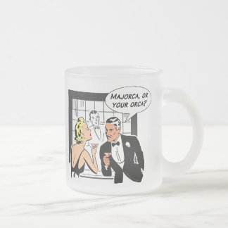 Majorca, or Your Orca? Frosted Glass Coffee Mug