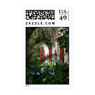 Majorcan Garden Postage Stamp