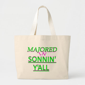Majored in Sonnin Y all Green on Fuschia Canvas Bag