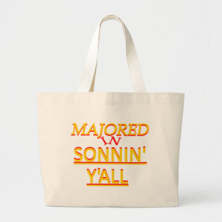 Majored in Sonnin Y all Orange on Red Bags
