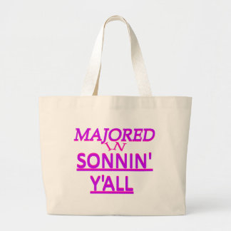Majored in Sonnin Y all Purple on Fuschia Canvas Bags