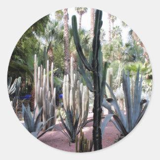 majorelle exotic plants classic round sticker