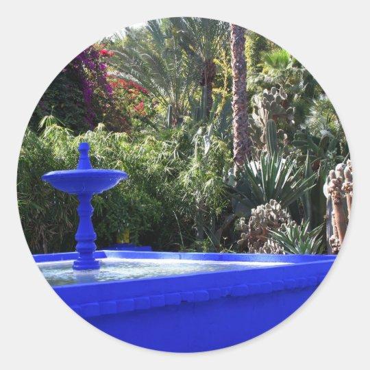 Majorelle garden classic round sticker