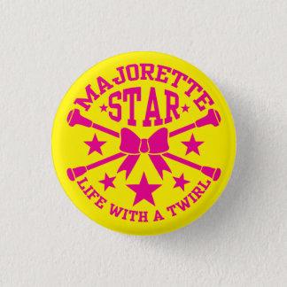 Majorette Badge Pinback Button