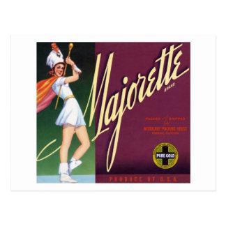 Majorette Brand Postcard