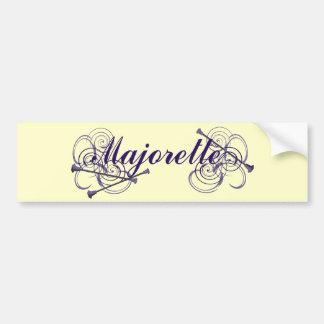 Majorette Car Bumper Sticker