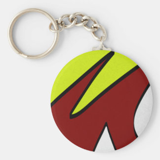 Majuscules Basic Round Button Keychain