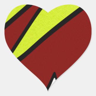 Majuscules Heart Sticker
