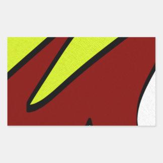 Majuscules Rectangular Sticker