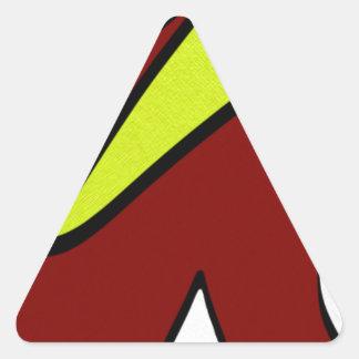 Majuscules Triangle Sticker