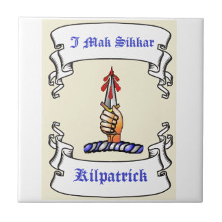 Mak Sikkar de la daga I de Kilpatrick Azulejo Cuadrado Pequeño