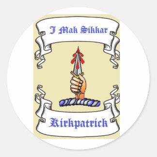 Mak Sikkar de la daga I de Kirkpatrick Pegatina Redonda