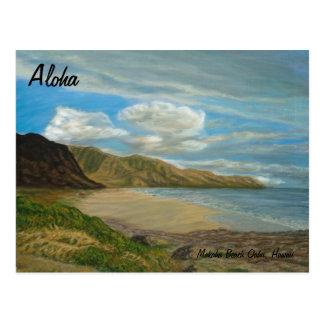 Makaha Beach Postcard