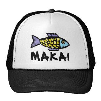 Makai toward the ocean colorful fish hat