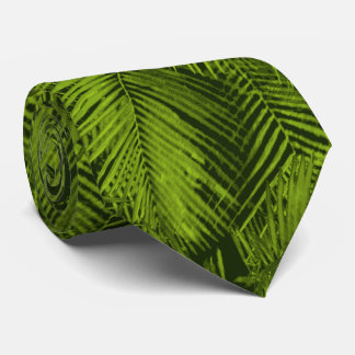 Makana Palms Hawaiian Tropical Leaves Neck Tie