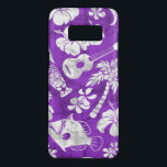 "Makapuu Beach Hawaiian Batik Purple Case-Mate Samsung Galaxy S8 Case<br><div class=""desc"">Purple and white colorway. A conversation print of tikis, palm trees, tropical fish, ukeleles, hibiscus and plumeria flowers are reminiscent of the designs used in vintage aloha shirts in the forties and fifties. The batik texture adds a unique texture throughout the design. Check out all of our colorways, some were...</div>"