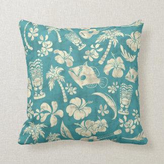 Makapuu Beach Hawaiian Batik Square Pillows