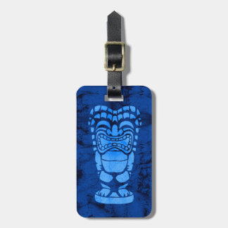 Makapuu Beach Hawaiian Laughing Tiki Batik Luggage Tag