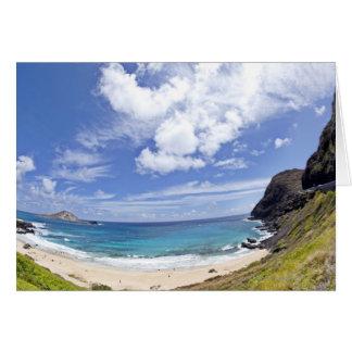 Makapuu Beach in Oahu, Hawaii. Card