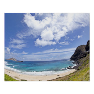 Makapuu Beach in Oahu, Hawaii. Poster