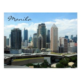 makati skyline post card