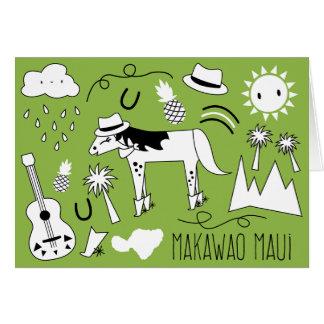 Makawao Maui Greeting Card