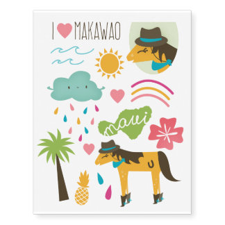 """""""Makawao"""" Temporary Tattoos"""