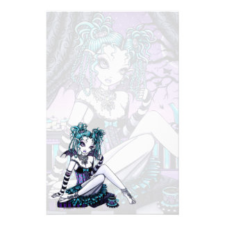 """Makayla"" Goth Couture Tea Party Fairy Stationery"