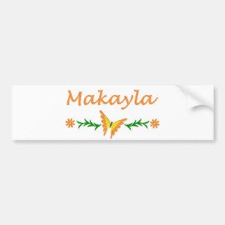 Makayla (Orange Butterfly) Bumper Sticker