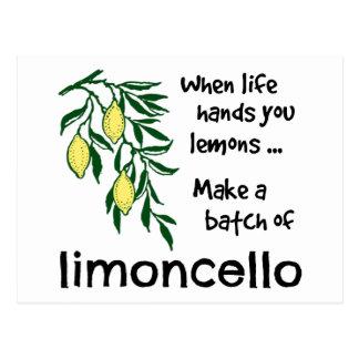 Make a Batch of Limoncello Postcard
