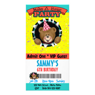 Make a Bear Party Invitation