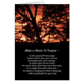Make a choice to forgive... card