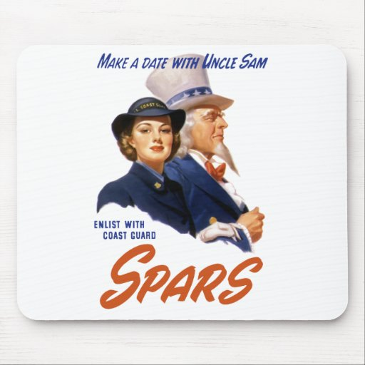 Make A Date With Uncle Sam -- Coast Guard Mouse Pad