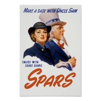 Make A Date With Uncle Sam -- Coast Guard Poster