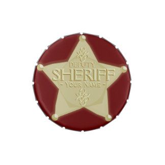 Make a Deputy Sheriff Name Badge Western Party Jelly Belly Tins