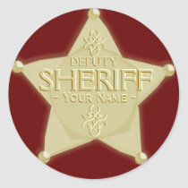 Make a Deputy Sheriff with Name Badge Sticker