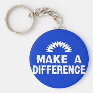 Make a Difference Basic Round Button Keychain