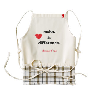 Make a difference because I care red heart Zazzle HEART Apron