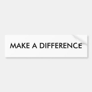 """Make a difference"" Bumper Sticker"
