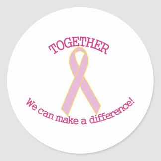 Make a Difference Classic Round Sticker