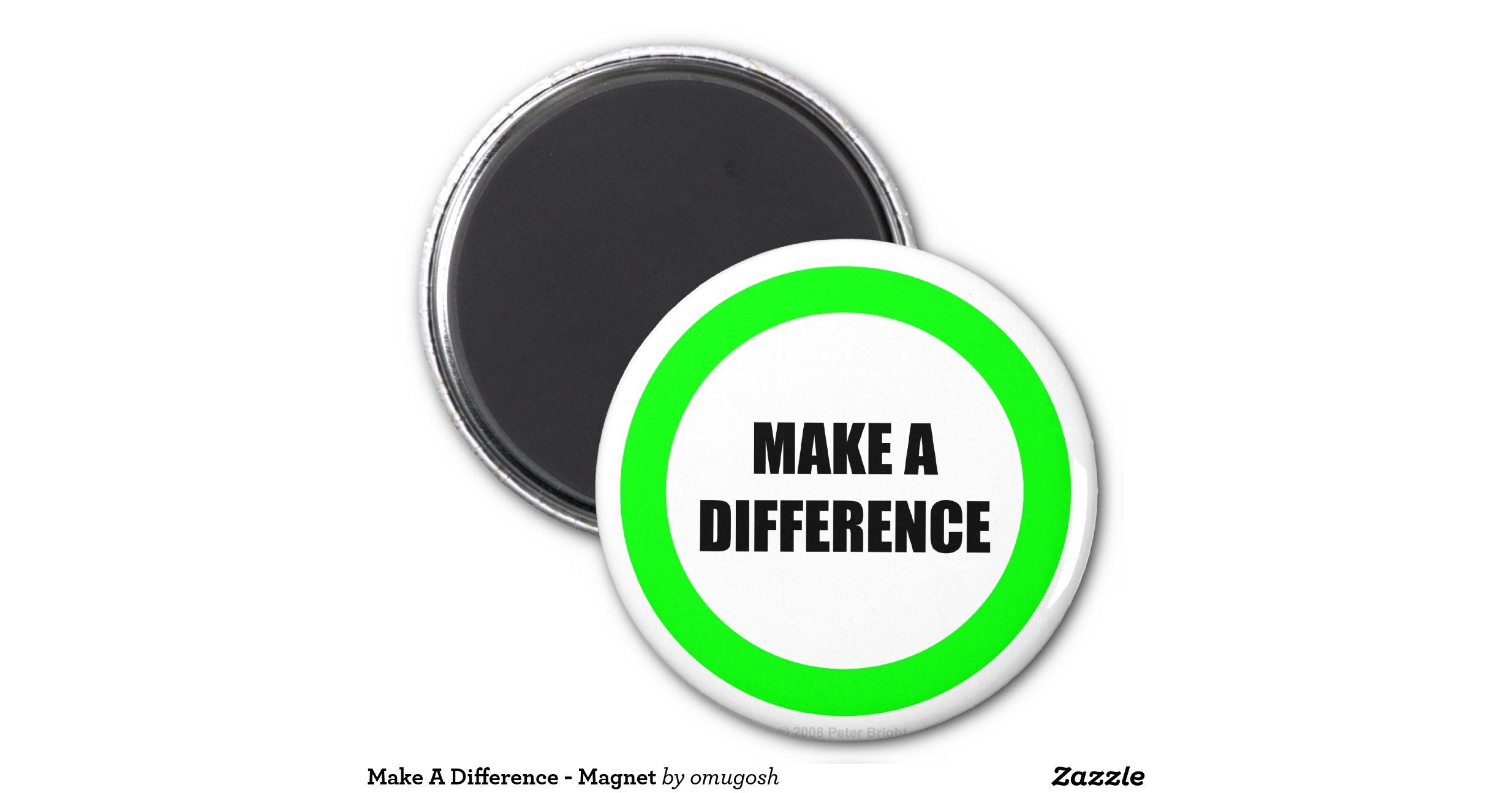 Make A Difference Magnet R1df3fdbba1974e928e77487af9234df6