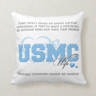 Make a Difference - Marine Wife Throw Pillow